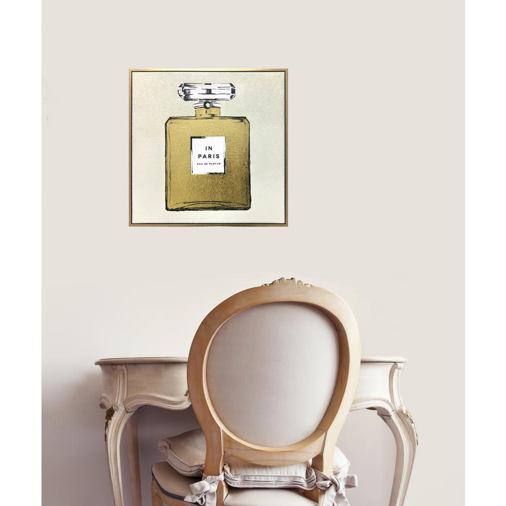 Wynwood Studio 16 in. H x 16 in. W \'Paris Perfume Gold and White\' by ...