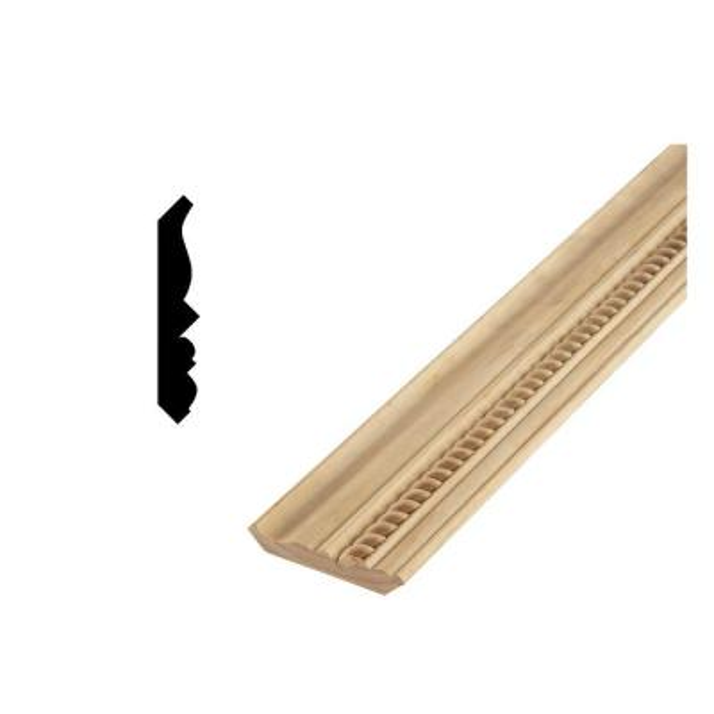 DM CM368R 9/16 in. x 3-5/8 in. Solid Pine Crown Moulding