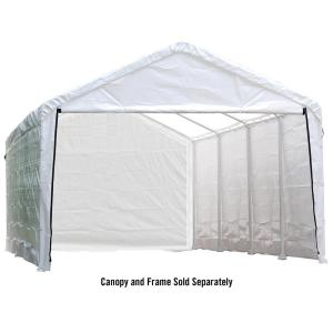 ShelterLogic Enclosure Kit for Super Max 12 ft. x 26 ft. White Canopy (Canopy and Frame... by ShelterLogic
