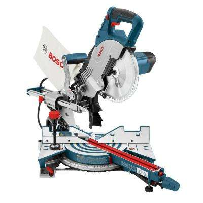 12 Amp 8-1/2 in. Corded Portable Single Bevel Sliding Compound Miter Saw with 48-Tooth Carbide Blade