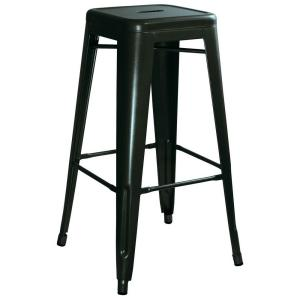 AmeriHome Loft Style 30 inch Stackable Metal Bar Stool in Black (Set of 4) by AmeriHome