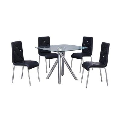 Madison 5 Pcs Dinette Set, Black