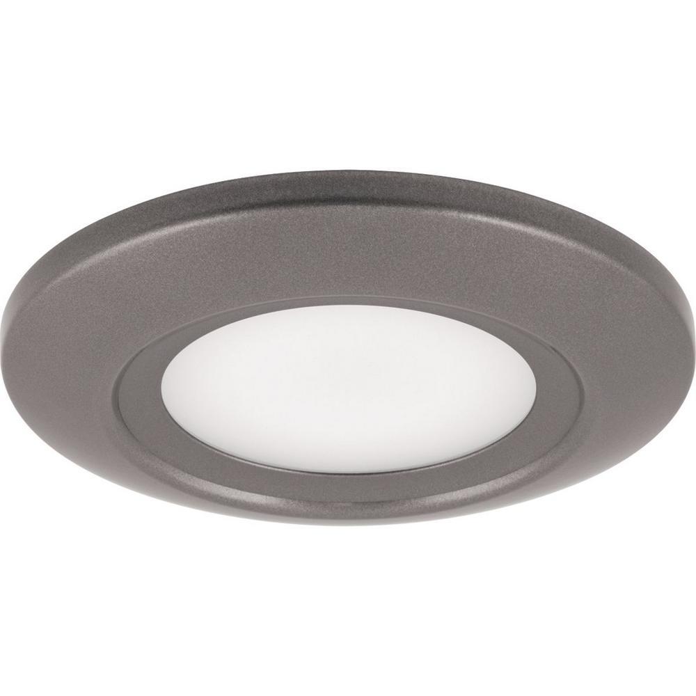 12 Watt Metallic Gray Integrated Led Flushmount