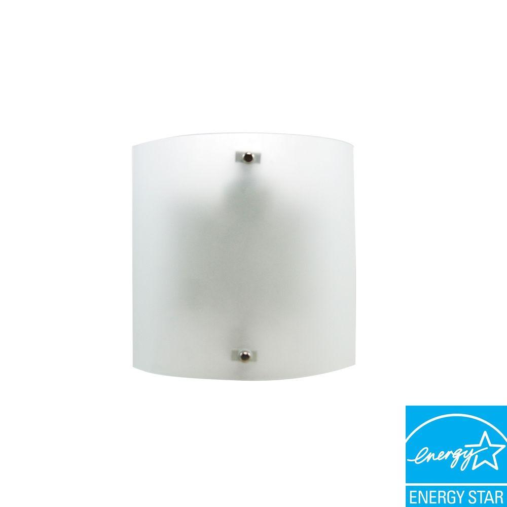 Efficient Lighting Contemporary Wall Sconce in Brushed Nickel Finish with Bulbs-DISCONTINUED
