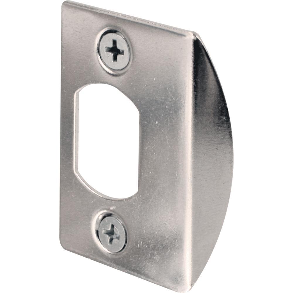 prime line chrome standard deadlatch door strike plate e. Black Bedroom Furniture Sets. Home Design Ideas