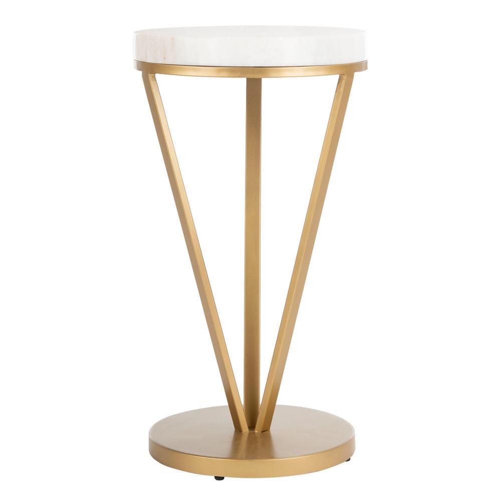 Safavieh Theia White/Gold End Table ACC3704A