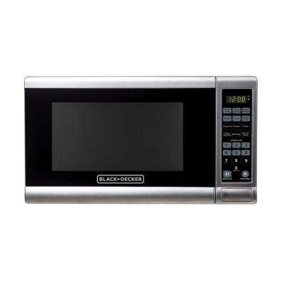0.7 cu. ft. Countertop Small Microwave in Stainless Steel with Pre-Programmed Settings