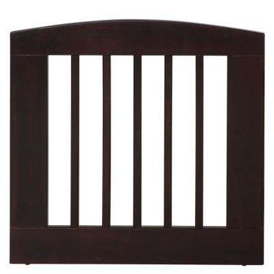 Ruffluv 24 in. H Wood Single Panel Cappuccino Pet Gate