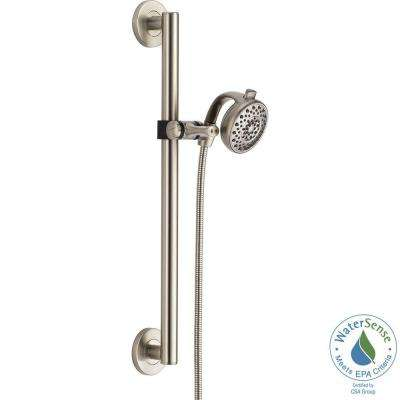 Palm Contemporary Decorative ADA 4-Spray Wall Bar Shower Kit in Stainless