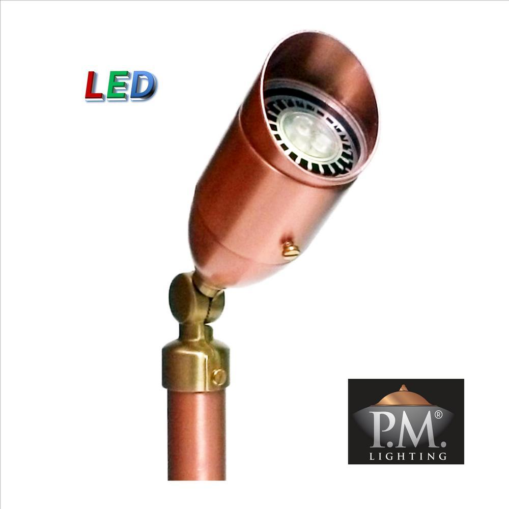 Professional Series 5-Watt LED Solid Copper Low Voltage Outdoor Landscape Spot Light