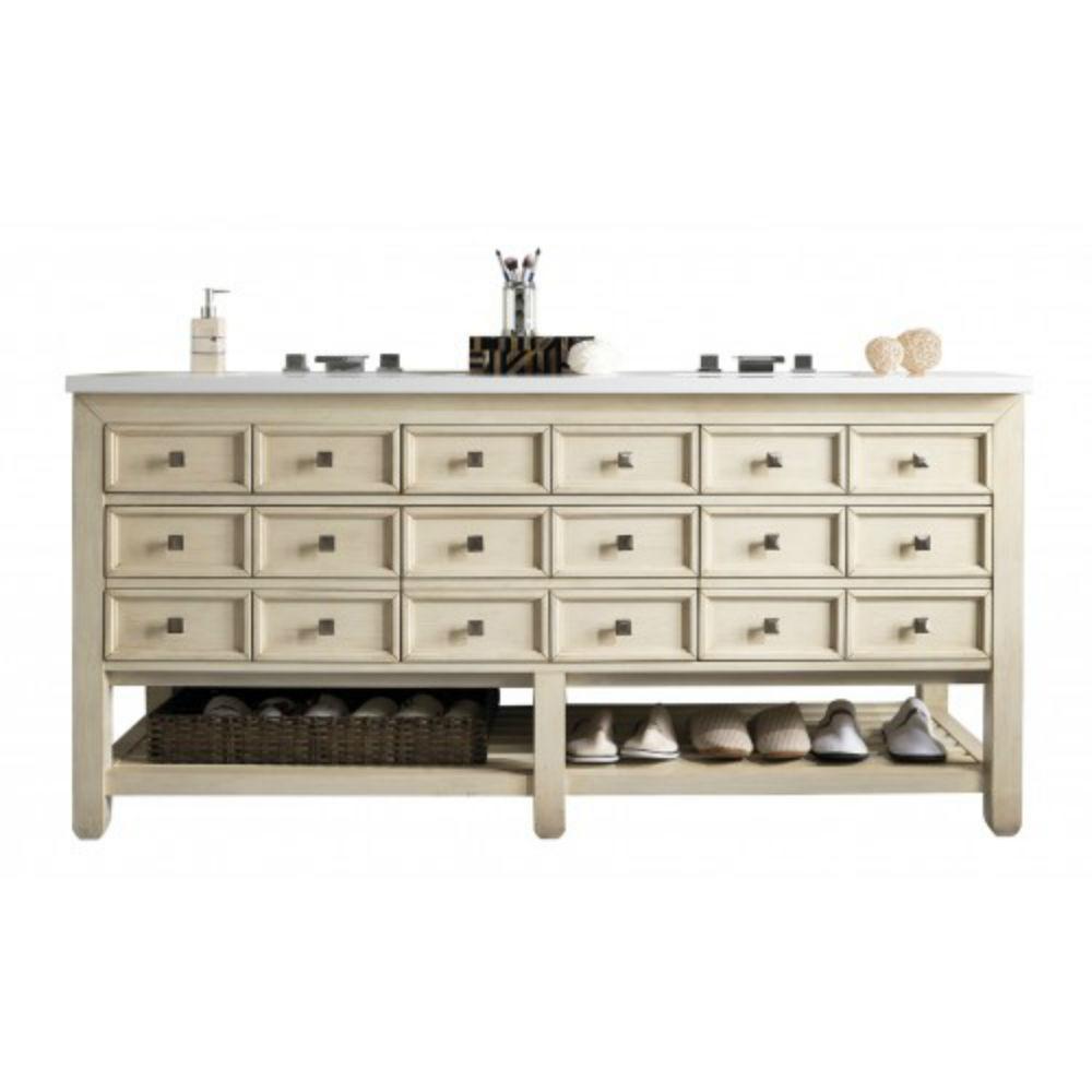 Double Bath Vanity Vanilla Oak Quartz Vanity Top White Basin