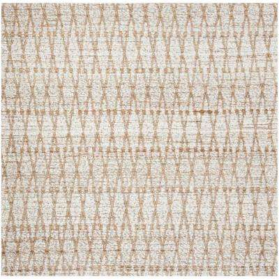 Cape Cod Silver/Natural 6 ft. x 6 ft. Square Area Rug