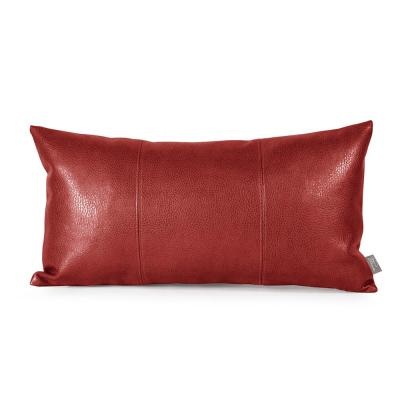 Avanti Apple Red Solid Polyester 6 in. x 22 in. Throw Pillow