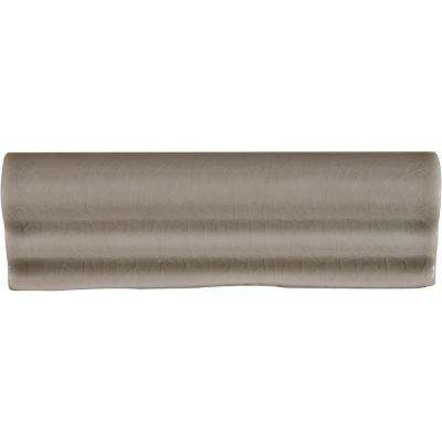 Dove Gray Crown Molding 2 in. x 6 in. Glazed Ceramic Wall Tile (0.5 lin. ft.)
