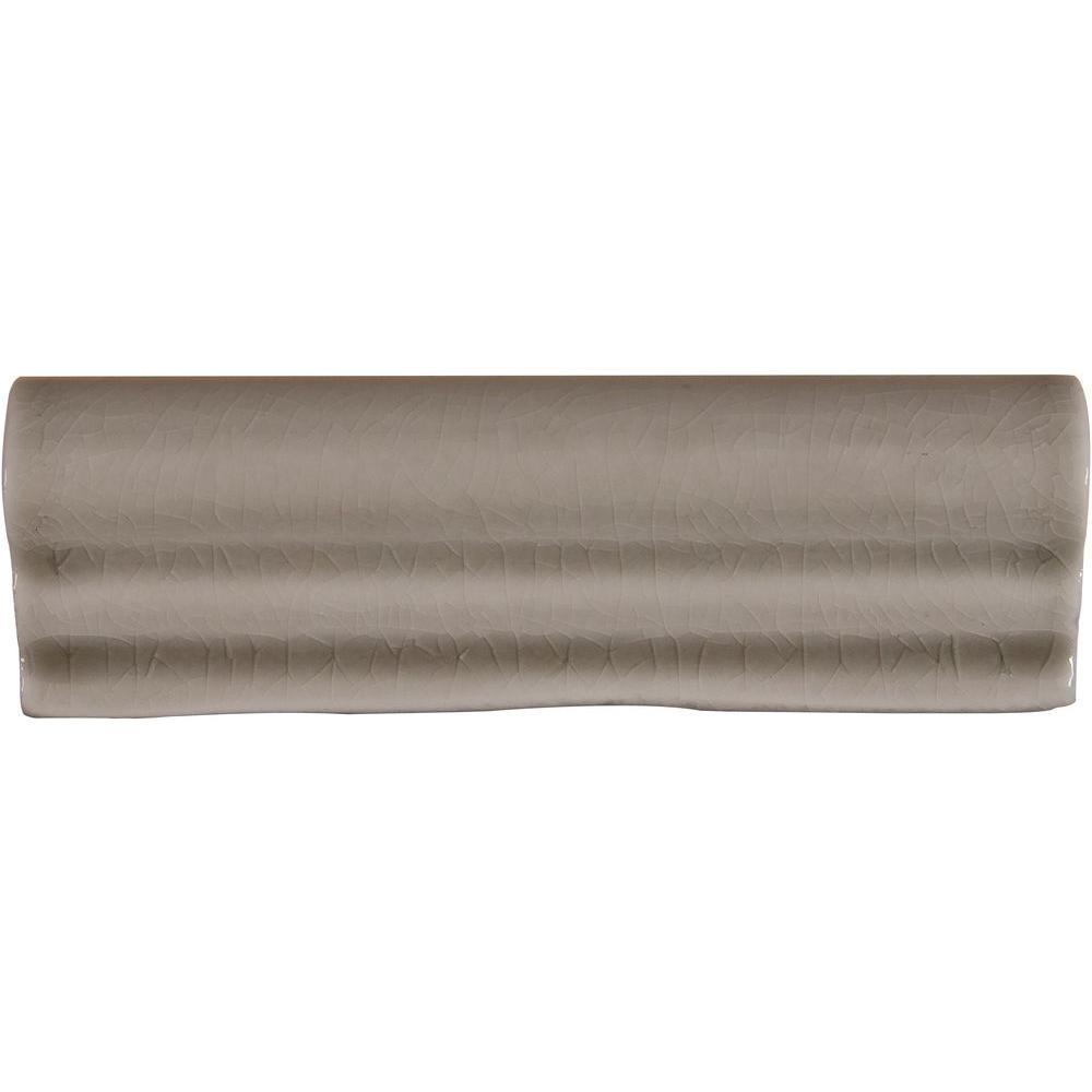 Msi Dove Gray Crown Molding 2 In X 6 In Glazed Ceramic Wall Tile