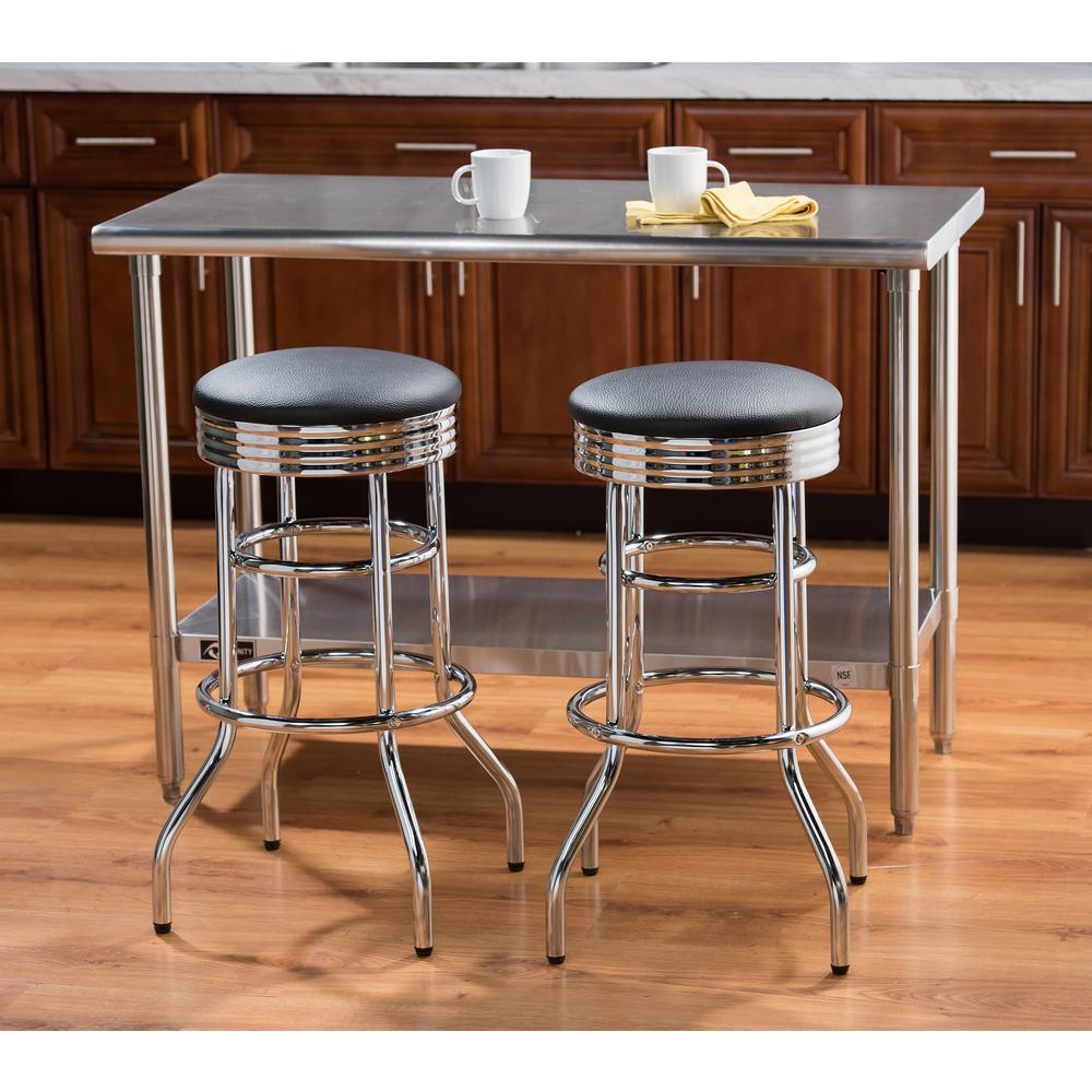 Home Decorators Collection James 29 5 In Chrome Bar Stool