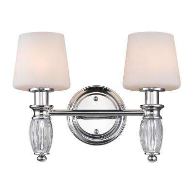 Vanna 2-Light Chrome Bath Light