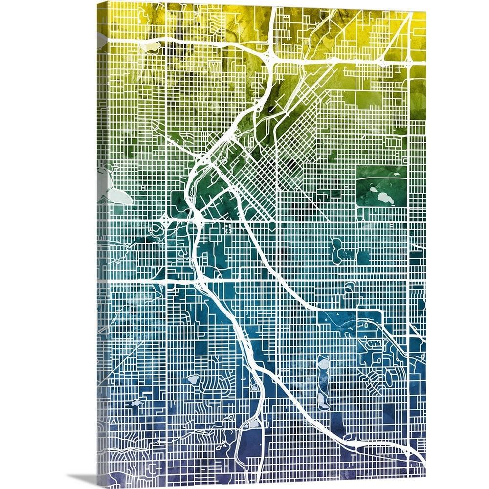 Denver Street Map on