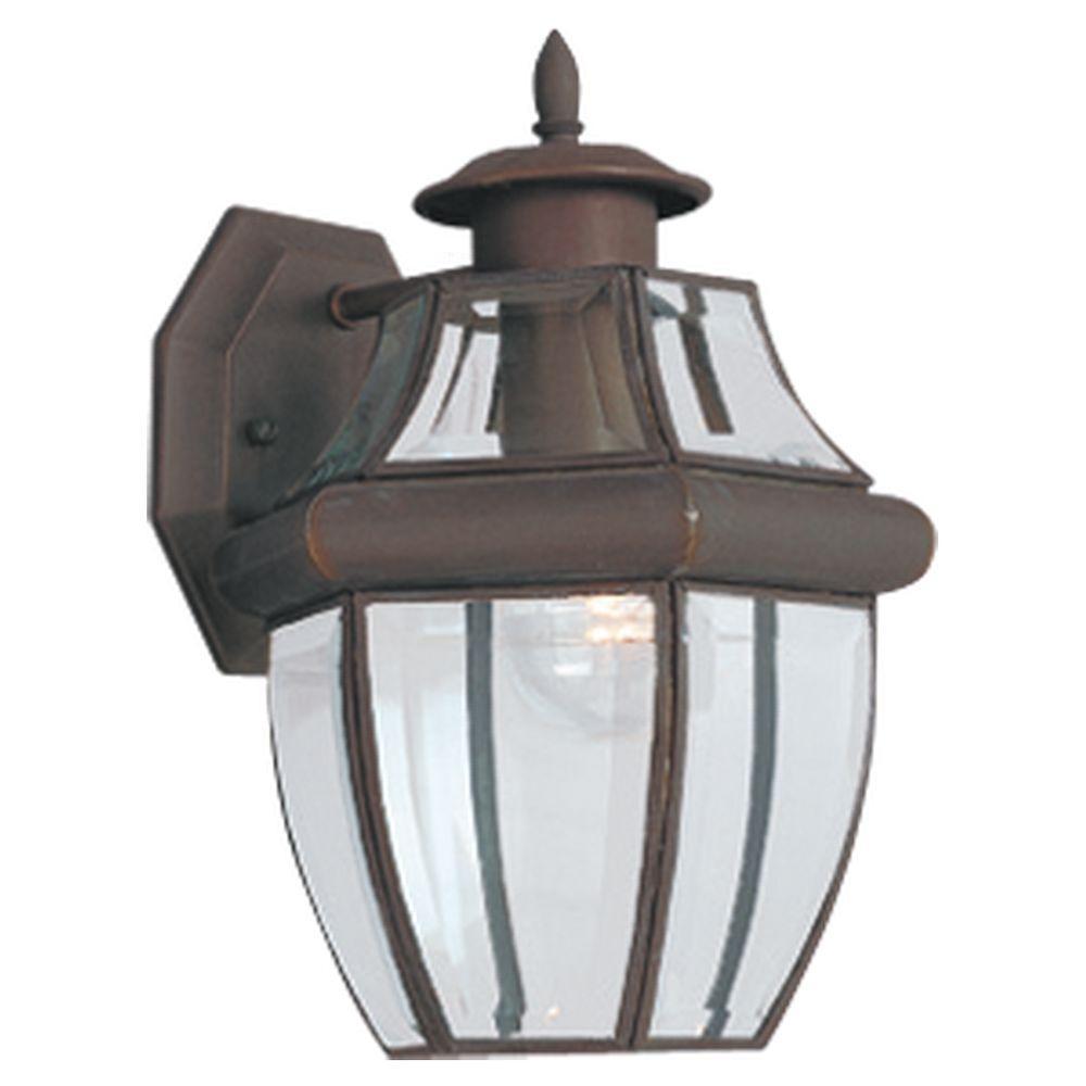 Lancaster 1-Light Antique Bronze Outdoor Wall Lantern Sconce