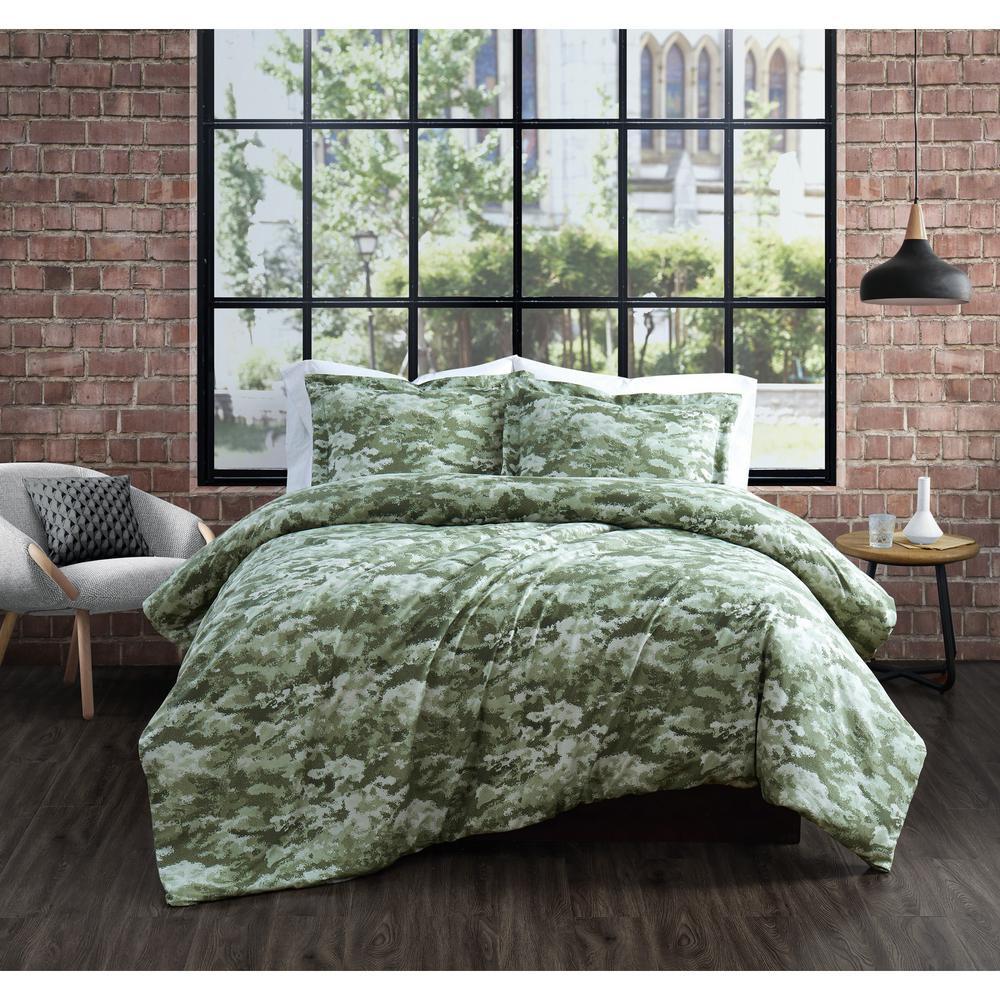 Sahara 3-Piece Green King Comforter Set