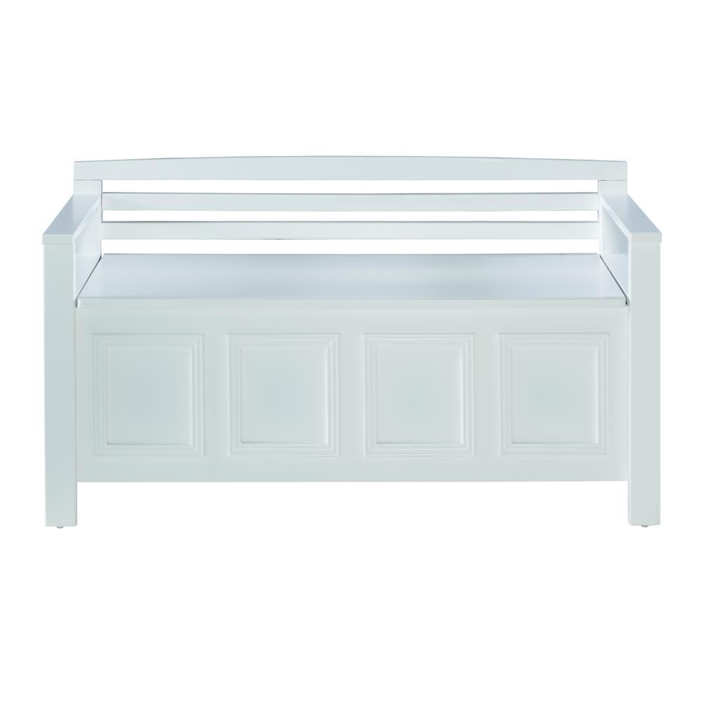 Laredo White Storage Bench