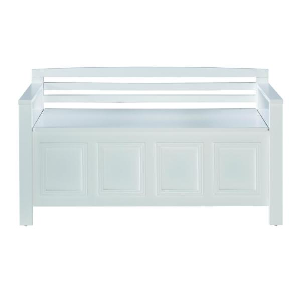Laredo White Storage Bench