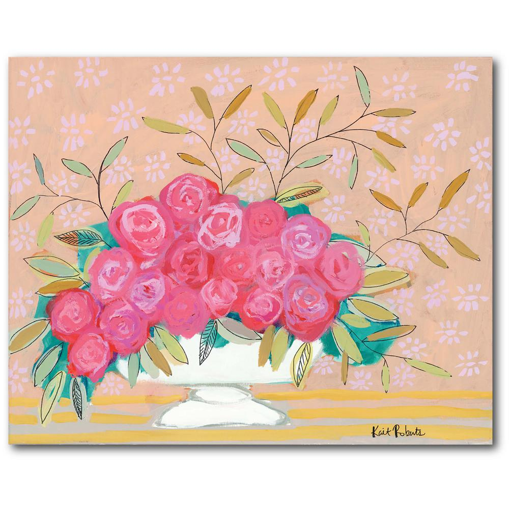 Courtside Market I Forgive in Flowers 16 in. x 20 in. Gallery-Wrapped Canvas Wall Art, Multi Color was $70.0 now $38.93 (44.0% off)
