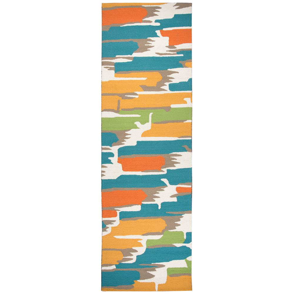 Azzura Hill Multicolor Abstract 3 ft. x 8 ft. Outdoor Runner