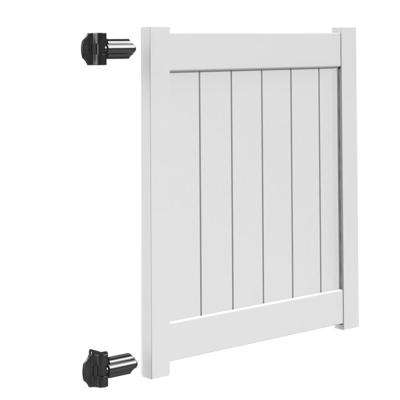 Bryce and Washington Series 4 ft. W x 4 ft. H White Vinyl Walk Fence Gate Kit
