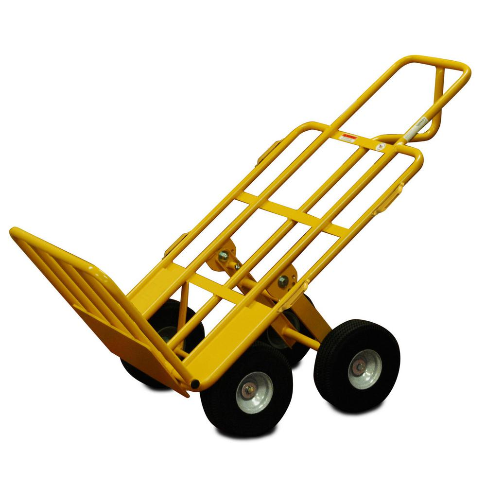 snap loc 750 lb capacity 4 wheel all terrain hand truck