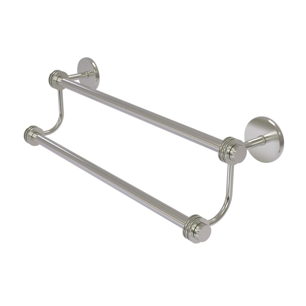 Satellite Orbit Two 24 in. Double Towel Bar with Dotted Accent