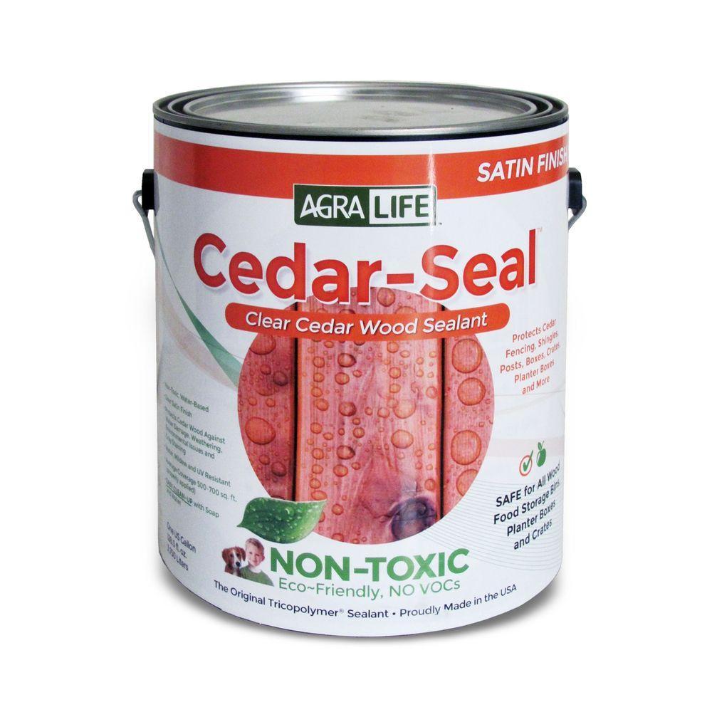 AgraLife VOC Free Non Toxic 1 gal. Clear Satin Cedar-Seal