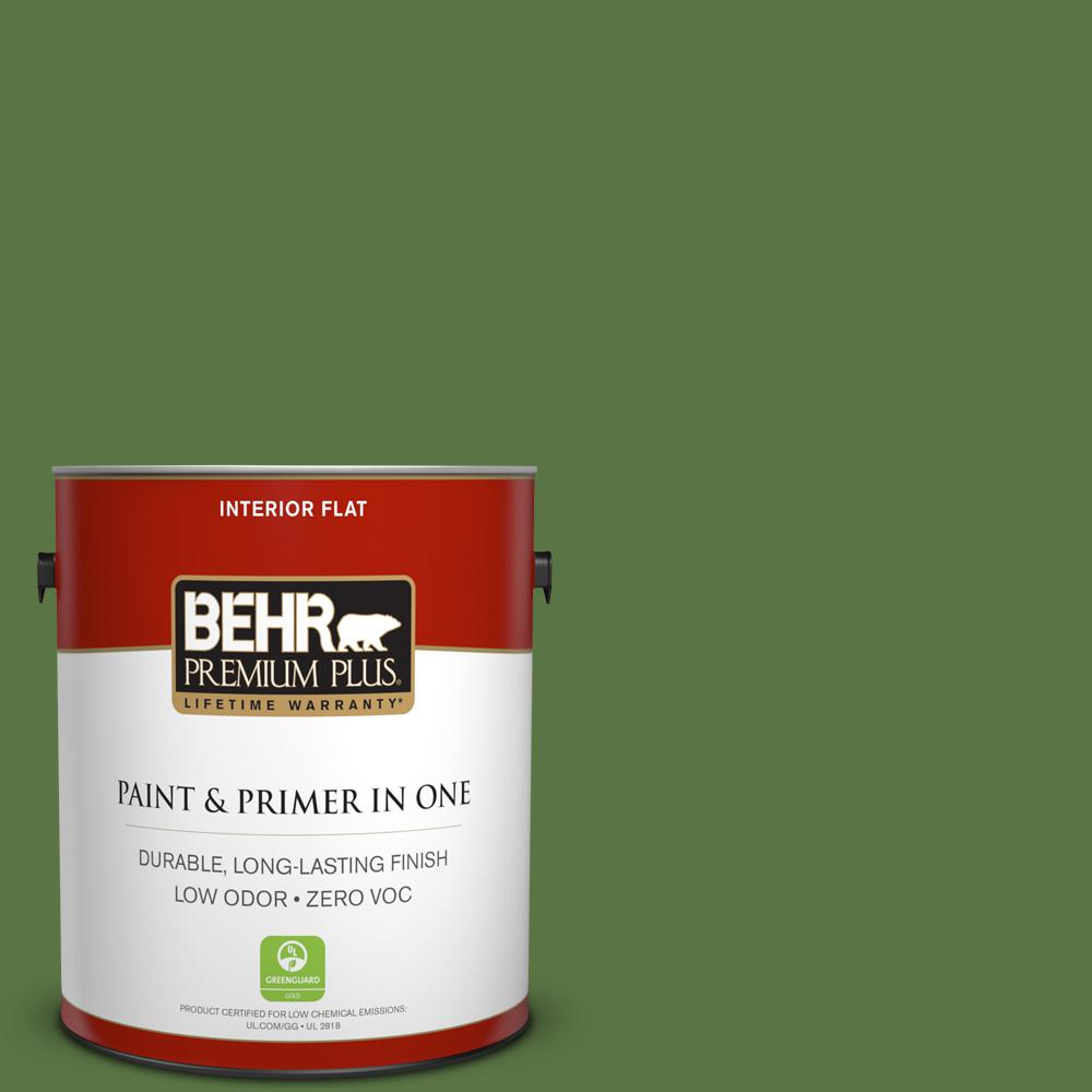 1 gal. #420D-7 Dill Pickle Flat Zero VOC Interior Paint and