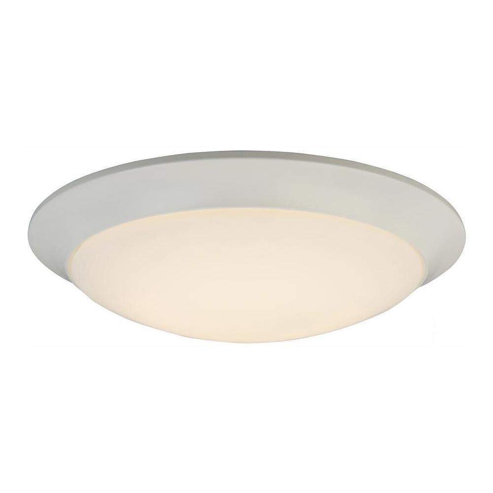 Hampton Bay 180-Watt Equivalent White LED Ceiling Flush Mount