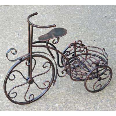 Antique Bronze Tricycle Planter Stand