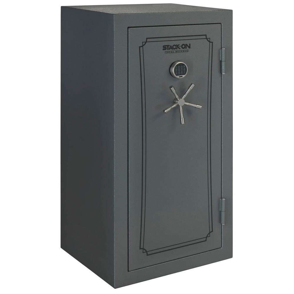 Total Defense Total Defense 40-Gun Fire/Waterproof Safe with Electronic Lock and Door Storage, Gray Pebble