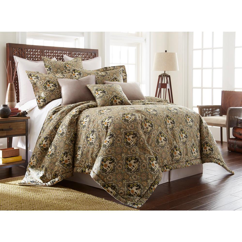 Sanaya 4-piece Multi-color King Comforter Set