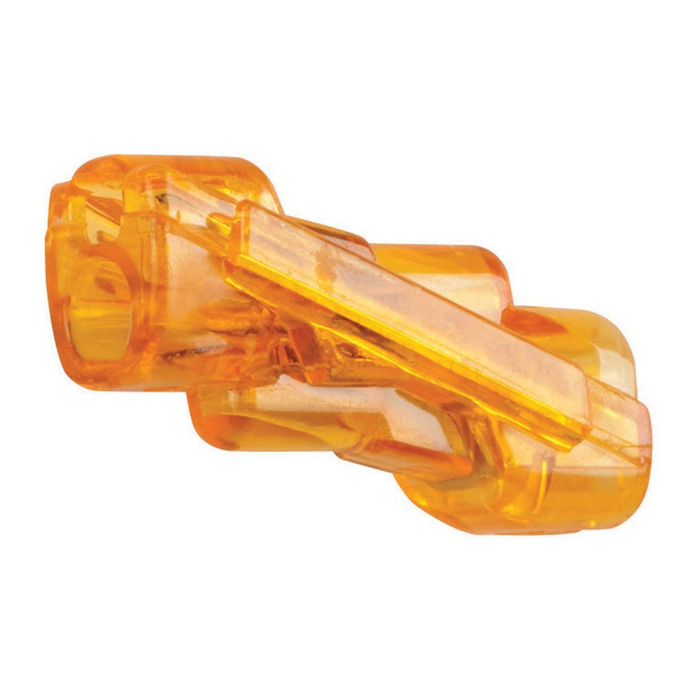 Spliceline 42 Orange In-Line Push-In Butt Splices (10-Pack)