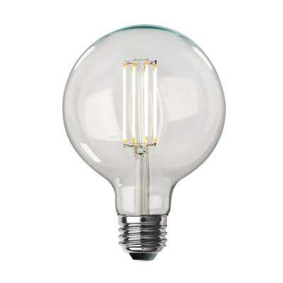 100-Watt Equivalent G40 Dimmable LED Clear Glass Vintage Edison Light Bulb With Cage Filament Soft White