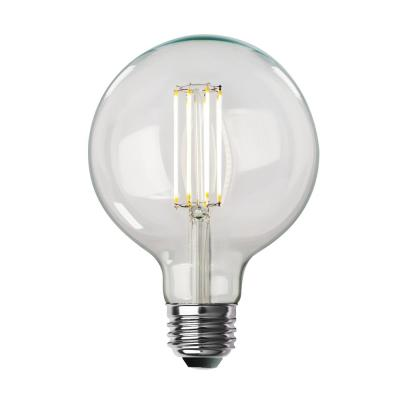 100-Watt Equivalent G40 Dimmable LED Clear Glass Vintage Edison Light Bulb With Cage Filament Soft White (2-Pack)