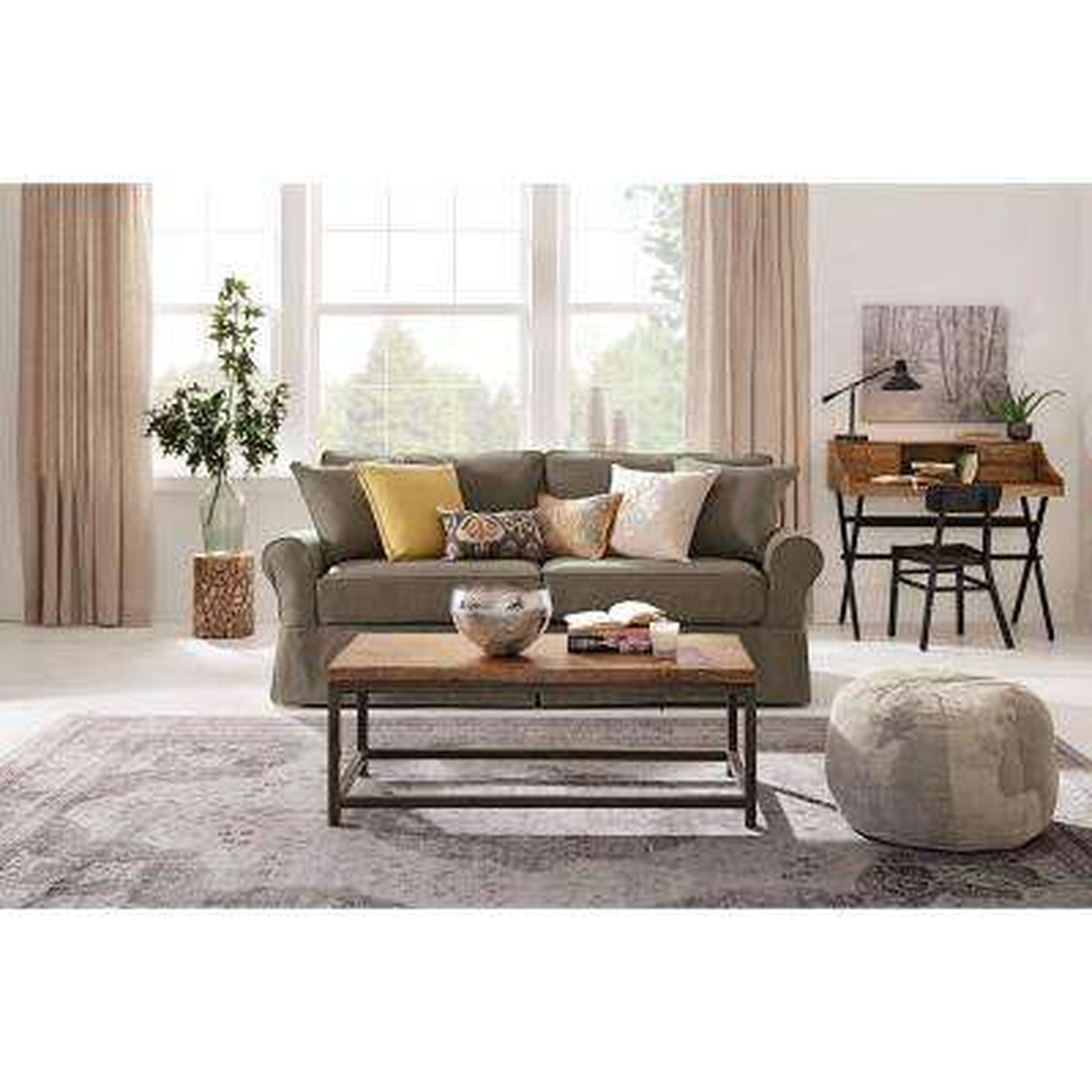 Mayfair Classic Smoke Twill Fabric Sofa