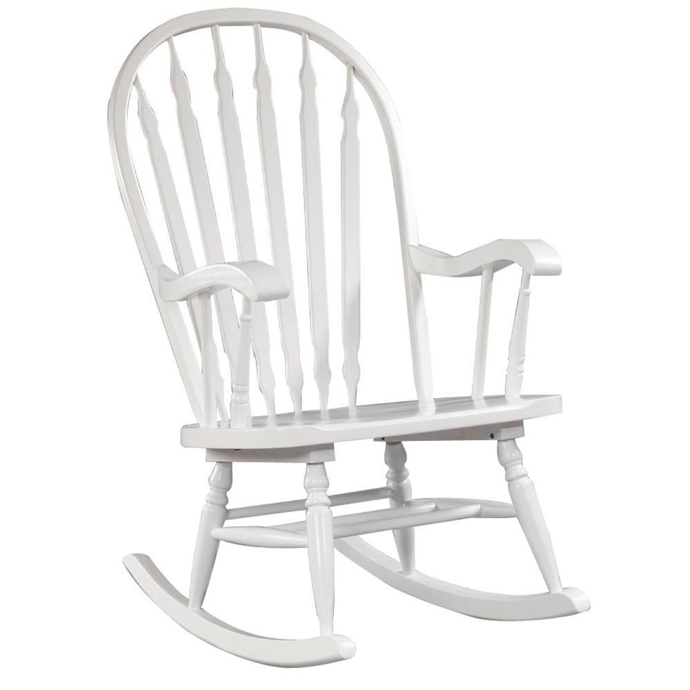 Carolina Cottage White Hudson Rocking Chair