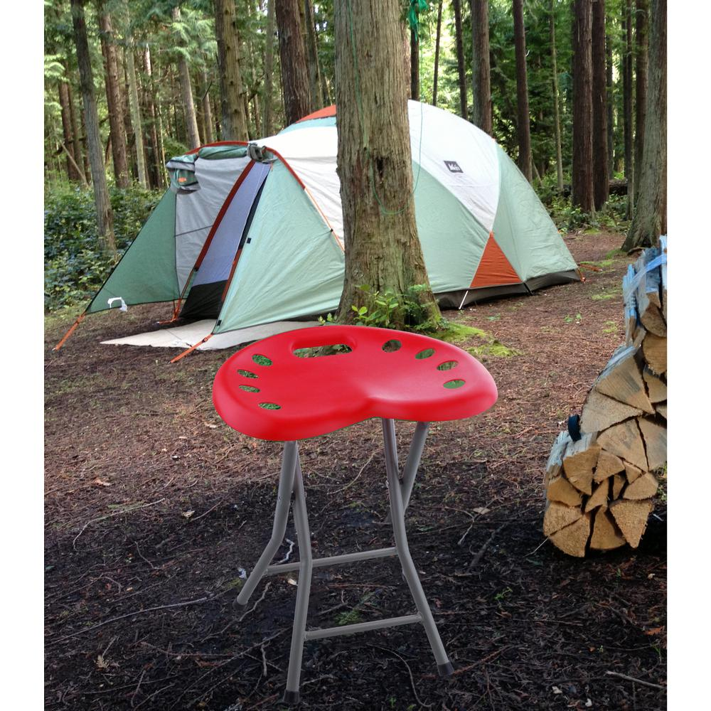 Red Folding Chair with Tractor Sport Seat