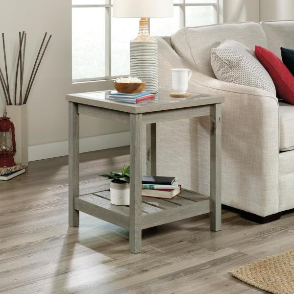 Sauder Cottage Road Mystic Oak End And Side Table 422475 The Home Depot