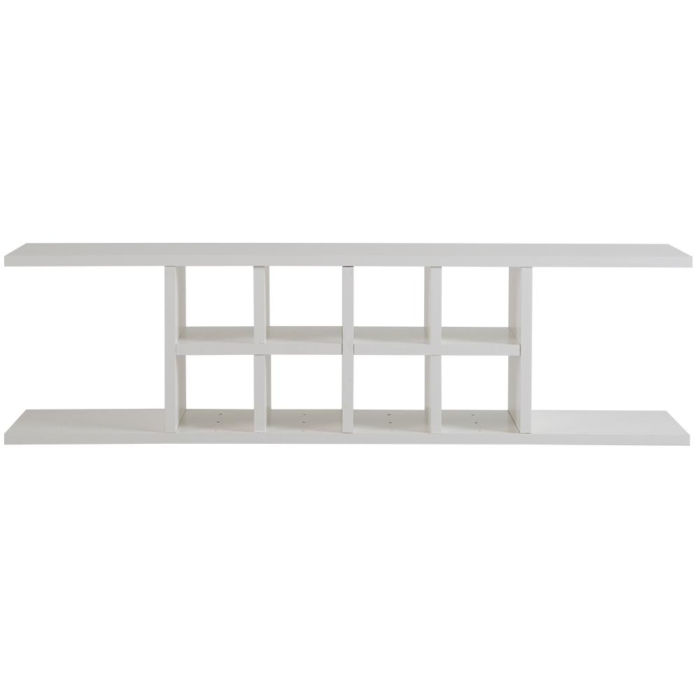 Hampton Bay Ready to Assemble 48 in. x 13 in. x 11 in. Flex Shelving Wall Cabinet with Dividers in White