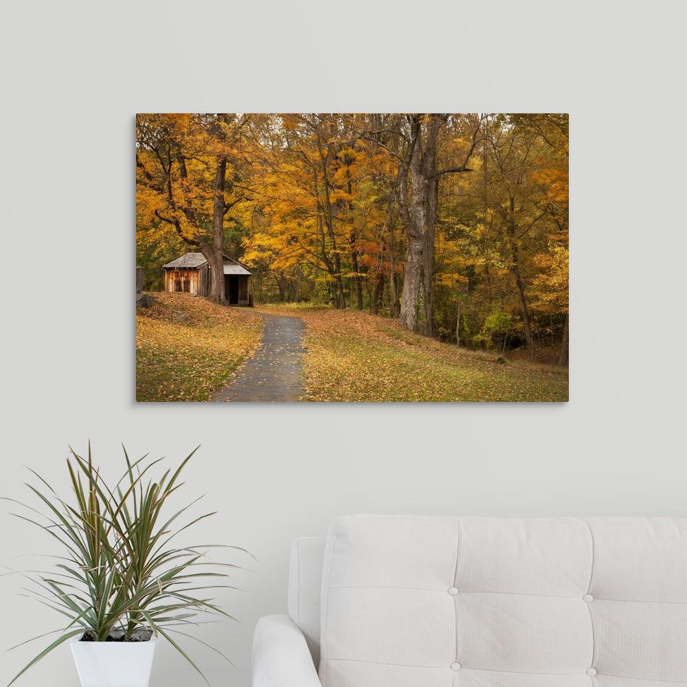 """Autumn Home"" by Natalie Mikaels Canvas Wall Art"