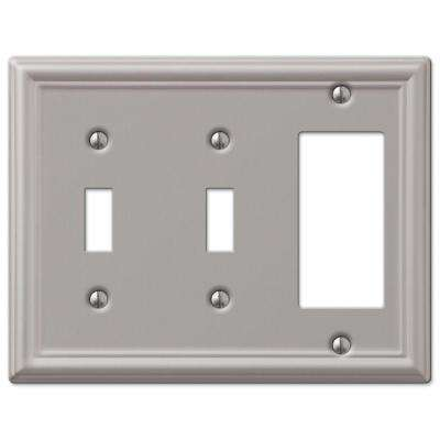 Chelsea 2 Toggle and 1 Decora Wall Plate - Brushed Nickel