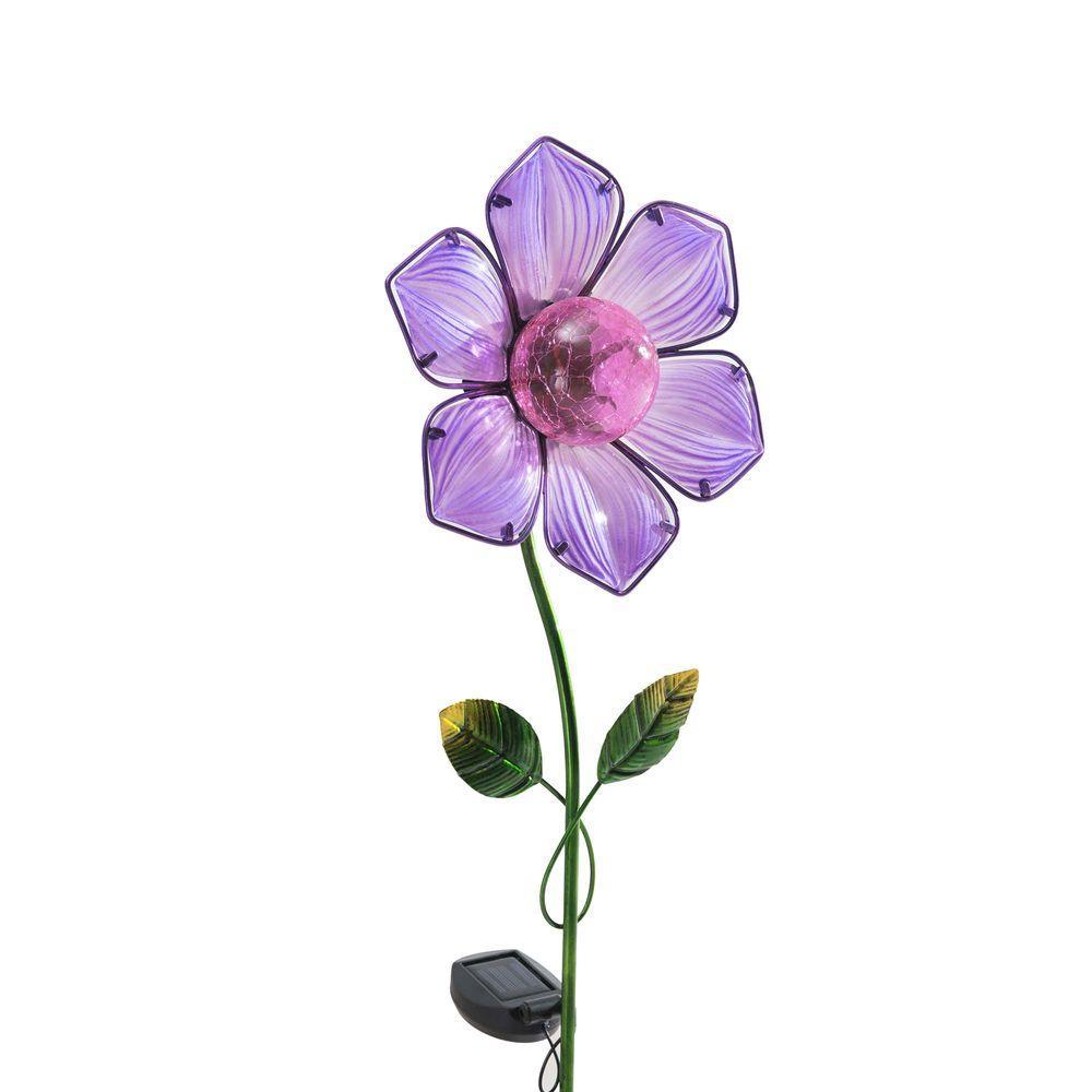 Purple Flower LED Solar Garden Stake