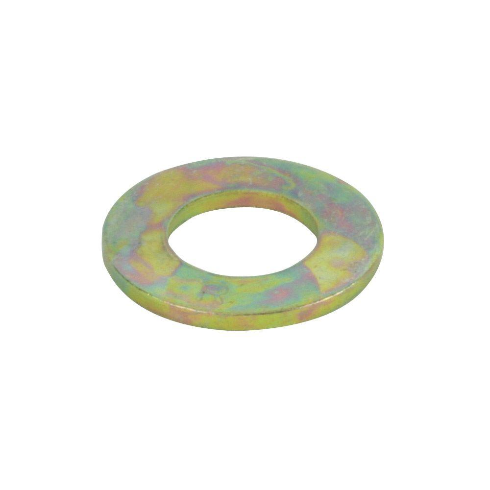 3/8 in. USS Yellow Zinc Grade 8 Flat Washer (25-Pack)