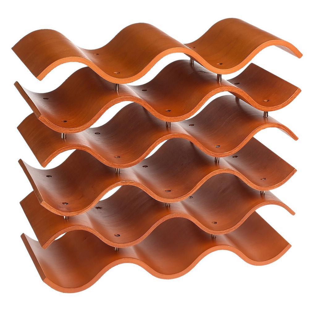 Bali 15-Bottle Spiced Pumpkin Orange Wine Rack